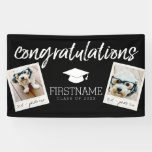 Class Of 2017 Graduation 2 Square Photo Collage Banner at Zazzle