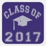 Class Of 2017 Graduation Square Sticker