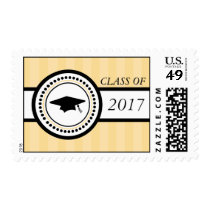 Class Of 2017 Graduation Stripes (Gold) Postage