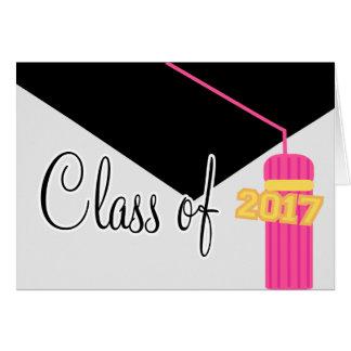 Class Of 2017 Graduation Tassel Card (Pink)