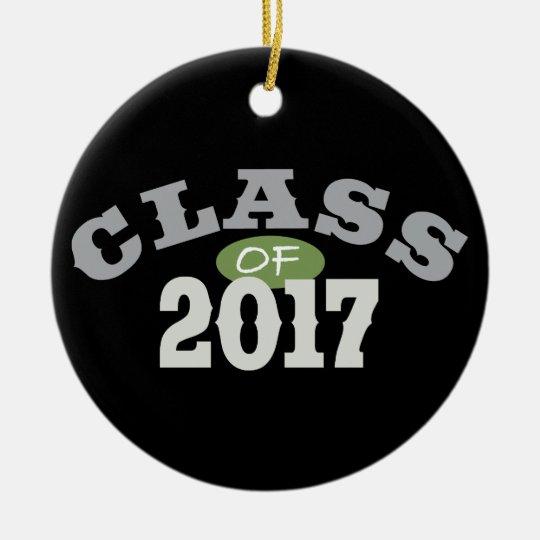 Class Of 2017 Green Ceramic Ornament