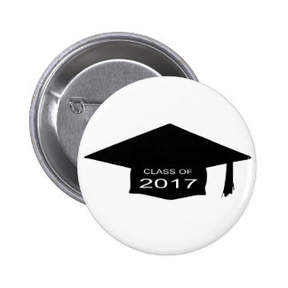 Class of 2017 Hat Pinback Button