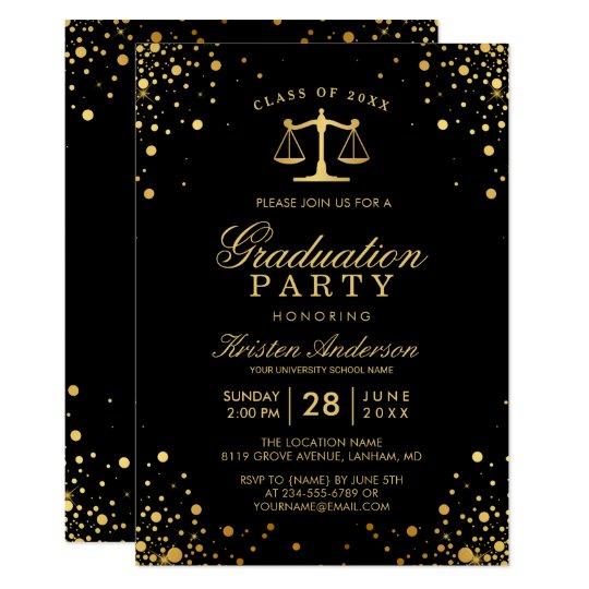 Class of 2017 Law School Graduate Graduation Party Card Zazzlecom