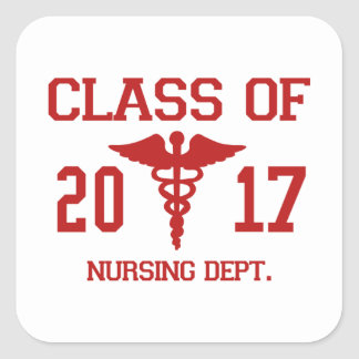 Class Of 2017 Nursing Dept Square Sticker
