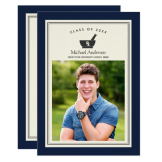 Class of 2017 Pharmacy School Graduation Party Card