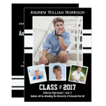 Class Of 2017 Photo Collage Sport Graduation Party Card at Zazzle