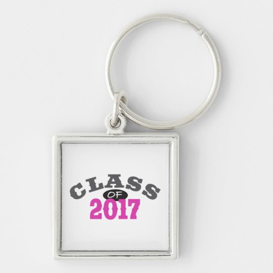 Class Of 2017 Pink Keychain