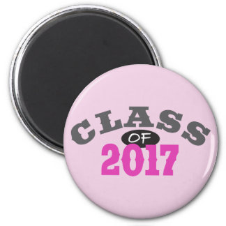 Class Of 2017 Pink Magnet
