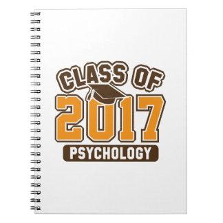 Class Of 2017 Psychology Spiral Notebook