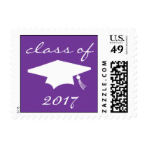 Class Of 2017 (Purple Graduation Cap) Postage
