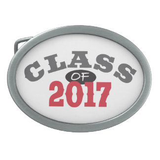 Class Of 2017 Red Belt Buckle