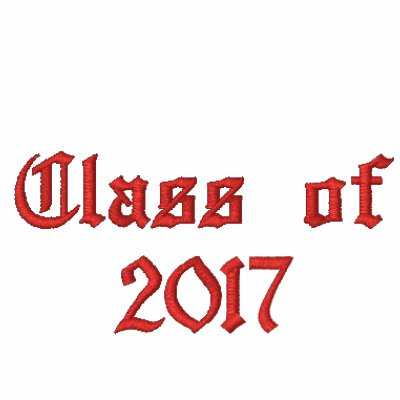 Class of 2017 - Red Hoodie