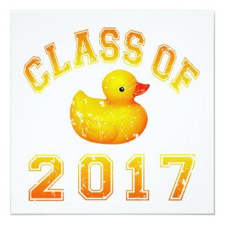 Class of 2017 Rubber Duckie Invitation
