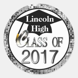 Class Of 2017 Sparkling Silver Graduation Seals