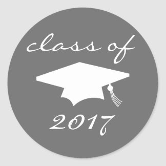 Class Of 2017 Sticker (Gray Graduation Cap)