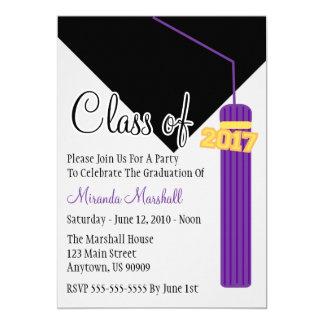 Class Of 2017 Tassel Graduation Invite (Purple)