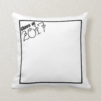 class of 2017 throw pillow