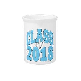 Class of 2018 blue drink pitcher
