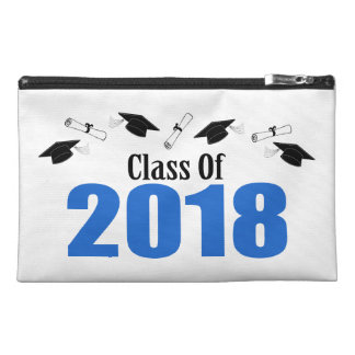Class Of 2018 Caps And Diplomas (Blue) Travel Accessory Bag