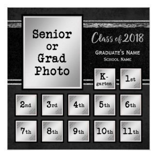 Class of 2018 Commemorative K-12 Photo Poster