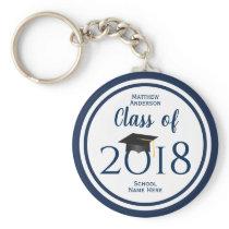 Class of 2018 Elegant Graduation Cap Graduate Keychain