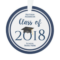 Class of 2018 Elegant Graduation Cap Graduate Ornament