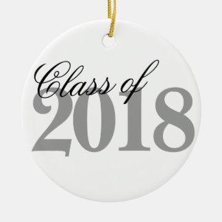 Class of 2018 Graduation | Black White Grad Year Ceramic Ornament