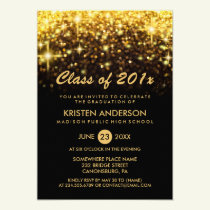 Class of 2018 Graduation Gold Glitter Glam Sparkle Card