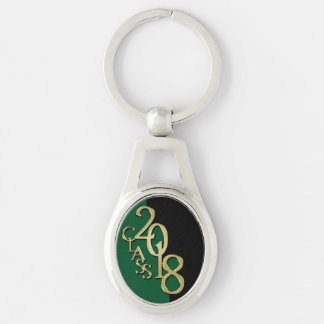 Class of 2018 Graduation Gold, Green and Black Keychain