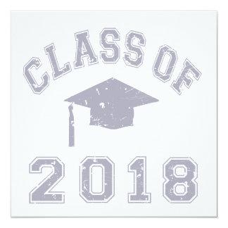 Class Of 2018 Graduation -  Grey Invitation
