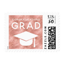 Class of 2018 Graduation Stamps Faux Rose Gold