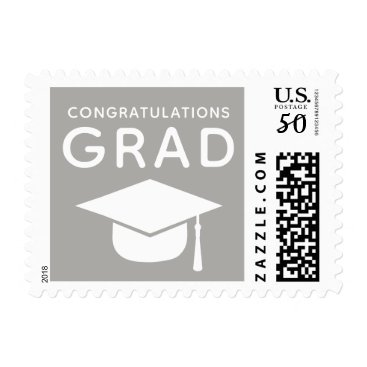 Professional Business Class of 2018 Graduation Stamps Gray
