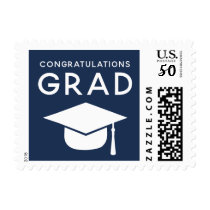 Class of 2018 Graduation Stamps Navy Blue