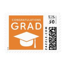Class of 2018 Graduation Stamps Orange