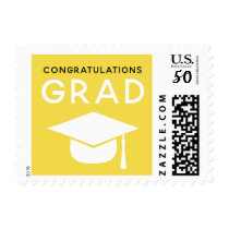 Class of 2018 Graduation Stamps Yellow