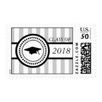 Class Of 2018 Graduation Stripes (Silver) Postage