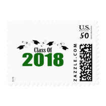 Class Of 2018 (Green Caps And Diplomas) Postage