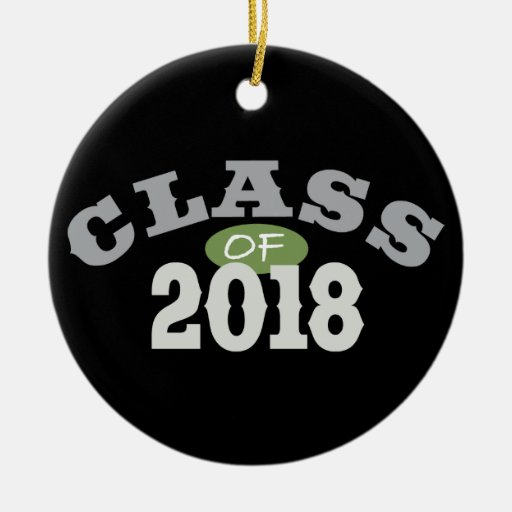 Class Of 2018 Green Christmas Tree Ornaments