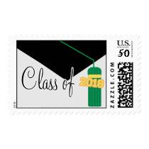 Class Of 2018 (Green Graduation Cap And Tassel) Postage