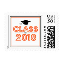 Class Of 2018 In Lights (Orange) Postage