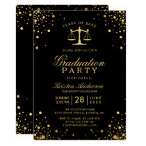 Class of 2018 Law School Graduate Graduation Party Card