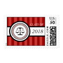 Class Of 2018 Law School Graduation Stripes Maroon Postage