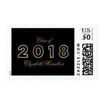 Class of 2018 Modern Faux Foil Gold Graduation Postage
