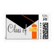 Class Of 2018 (Orange Graduation Cap And Tassel) Postage