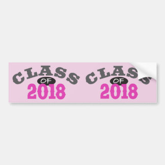 Class Of 2018 Pink Bumper Sticker
