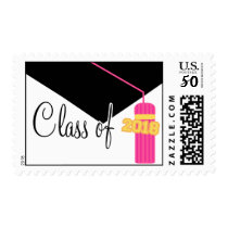 Class Of 2018 (Pink Graduation Cap And Tassel) Postage
