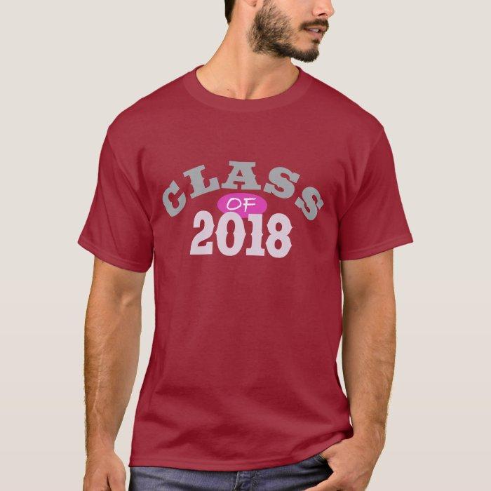 Class Of 2018 Pink T-Shirt