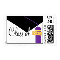 Class Of 2018 (Purple Graduation Cap And Tassel) Postage