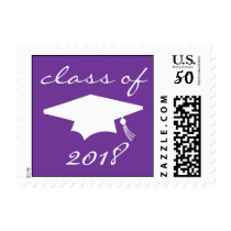 Class Of 2018 (Purple Graduation Cap) Postage