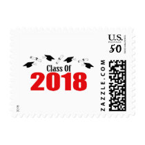 Class Of 2018 (Red Caps And Diplomas) Postage